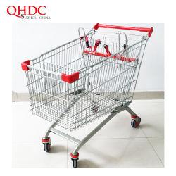 Fabricante de alta calidad Carro de supermercado 2 Carritos de Compras del bebé.
