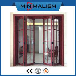 명확한 유리 또는 알루미늄 접게된 문을%s 가진 이중 디자인 알루미늄 프레임