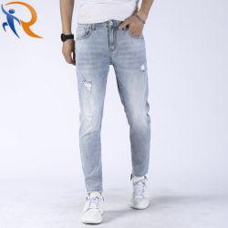 Los hombres de nuevo estilo de moda pantalones vaqueros Slim cintura alta