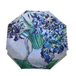 여성용 고급 방풍 예술품 빈센트 반 고흐 아과구화 레인 여성 우산 디자인
