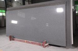 Shimmer серого цвета/Crystal искусственного разработаны кварцевого камня кухонном столе/есть раковина/работы верхняя плита