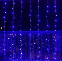 5mm Mini-LED Vorhang-Eiszapfen-Lichter, 3m x 3m 300LEDs LED warme weiße Zeichenkette-Lichter für Hochzeit, Partei