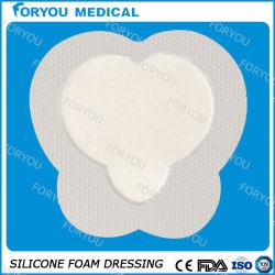 Silicona sensible baja de la frontera sacro vestirse de espuma para la úlcera de pierna herida y diabéticos Sfd1137