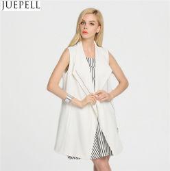Simple y elegante estilo europeo de la Mujer Otoño Sección larga de tejidos de punto y tejidos de cuello largo abrigo chaleco