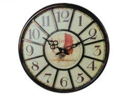 新式のクロック骨董品の金属フレームの円形の装飾的な柱時計