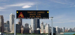 Auto-estrada de publicidade exterior informações fixas ou sinais de mensagem variável LED de cor âmbar do Monitor de Tráfego