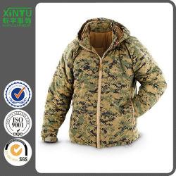 Impreso de poliéster capa multicolor Made in China Personalizar chaqueta con capucha militar de manga larga algodón Pesado