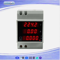 DIN Rail Digital Current와 Voltage Meter Ammeter Voltmeter