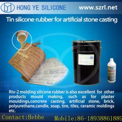 L'étain cure en caoutchouc de silicone blanc pour le béton Reduplication de pierre