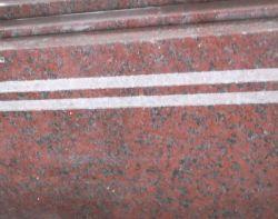 L'Inde Pierre de granit rouge/muret de pierre de granit rouge// tuiles, de granit