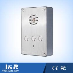 Ajuda do sistema mãos livres Público Intercomunicador assistência telefone telefone de Discagem automática Jr301-3B-OW