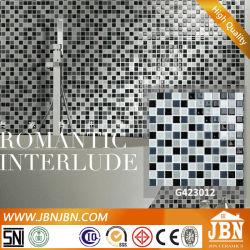 Preto e branco cristal de vidro de azulejos de parede Mosaic (G423012)