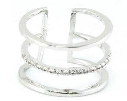 La Chine Le commerce de gros de bijoux pour mariage et l'engagement que l'amour cadeau 925 sterling plaqué or argent/cuivre Bijoux Fashion Ring (R10402)