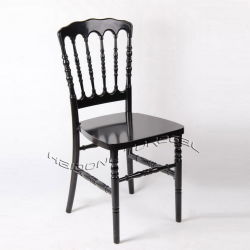 La resina de plástico acrílico negro Napoleón Sillas de comedor