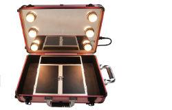 Carrinho de cosméticos Professional Makeup caso com luz