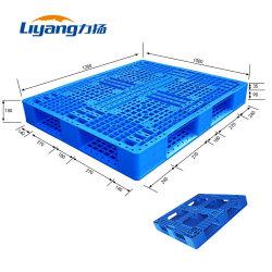 HDPE van de Pallet van de EU het Standaard Plastic Dienblad van het Pakhuis van de Opslag Blauwe Gerecycleerde