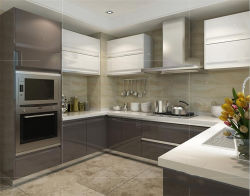 Construído em armários de cozinha Armários de cozinha personalizado