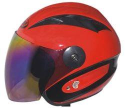 Accessoires et pièces de moto ABS face demi-casque visière unique