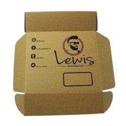 La impresión de logotipo personalizado embalajes de cartón corrugado el envío de mail box