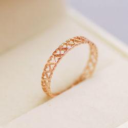 2020 anelli di oro rosa cuore di gioielli di moda