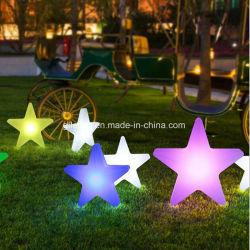 Star Light LED en plastique à distance des lumières décoratives pour les mariages