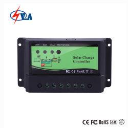 LED 12/24 V de temps et de contrôle de la lumière de la batterie gel 10d'un chargeur solaire contrôleur PWM