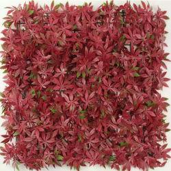 Proteção UV fresco retardante de fogo PE cerca de folhas artificiais Willow Hedge jardim vertical de privacidade tela na parede verde
