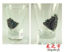 ボトル用ガラスカップメタルロゴ用メタルスティックラベル