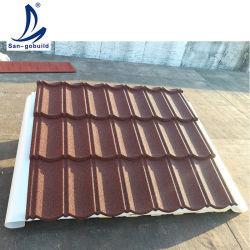 Matériaux de construction de toit de tuiles Classcial aluminium toiture métallique résidentiel Stone