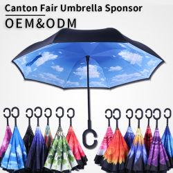 All'interno di - fuori adattare a costo poco costoso la stampa su ordinazione Sun ombrello d'inversione invertito