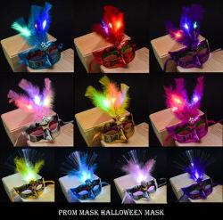 L'halloween Glow Fuzzy fibre masque Masque de danse sera dirigé vers le bas de gros de la vente de jouets pour enfants