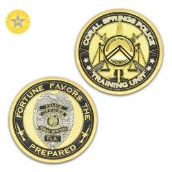 カスタマイズされた様式の光沢があるニッケルの終わりの金属のクラフトの記念する硬貨