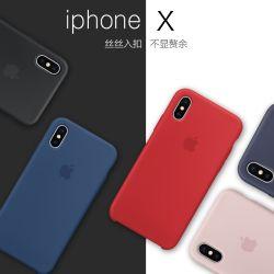 Het mooie Vloeibare Schokbestendige Geval van het Geval van de Steen van het Silicone Rubber voor iPhone X de Dekking van de Telefoon