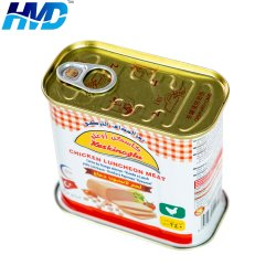 Comercio al por mayor caja de estaño rectangular vacía para el almuerzo en las conservas de carne