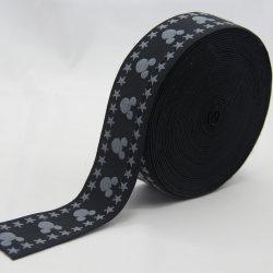 Tessitura di nylon del poliestere della tessitura elastica su ordinazione del jacquard per la biancheria intima