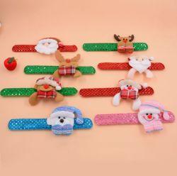 Блестящие цветные лаки Sequin бить браслет Санта-снег Man ткань Рождество браслет