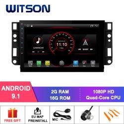 Processeurs quatre coeurs Witson Android 9.1 DVD de voiture GPS pour Chevrolet Epica/Captiva Capactive 1024*600 (pour l'écran 7 pouces et écran plus grand)