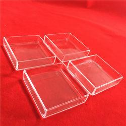 カバーが付いている高い純度の長方形のゆとりの水晶皿