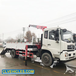 망원경 붐 트럭 기중기 Dongfeng 공장 15ton 트럭에 의하여 거치되는 기중기 트럭