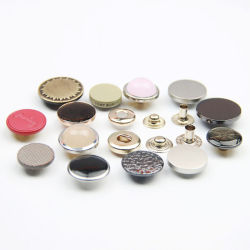 Personalizar a mola de metal Botão de encaixe para o vestuário