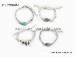 Art-Armband-Metallblatt-halb kostbarer Stein-Armband-Set Form-Schmucksache-der neuen Entwurfs-Frauen