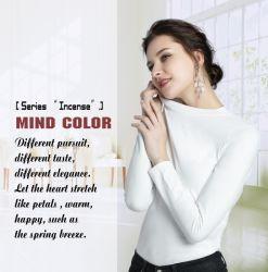 Magliette lunghe bianche all'ingrosso delle donne dei manicotti con fragranza