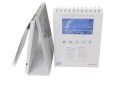 4.3 pulgadas LCD, reproductor de vídeo de tarjeta de felicitación con 4GB/calendario