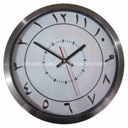 逆方向に耐久のステンレス鋼のクロックによって実行される柱時計
