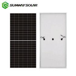 لوحة الطاقة الشمسية PERC الشمسية 144خلايا 435 وات مقاس 440 وات مع اللوحة الشمسية بلون أحادي نصف سعر لوحة الخلايا الشمسية