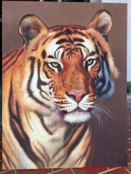 Tigre hechas a mano Pinturas al Óleo sobre tela