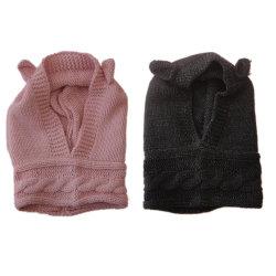 아이들 겨울 온난한 형식 아크릴 케이블 니트 Hoodie/모자 또는 모자