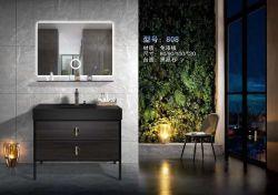 Популярные старинные деревянные MDF ванная комната со светодиодной подсветкой зеркала в противосолнечном козырьке