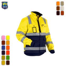 Segurança retardante de fogo de algodão fita refletiva jaqueta de trabalho da Marinha