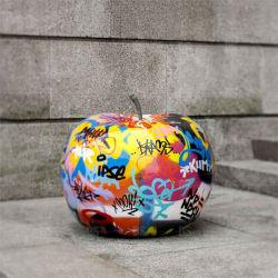 실물 크기 섬유유리는 장신구 공장 공급자를 위한 Apple 손으로 그리는 다채로운 숫자를 조각한다